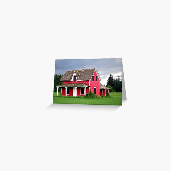 Little Red House Greeting Card
