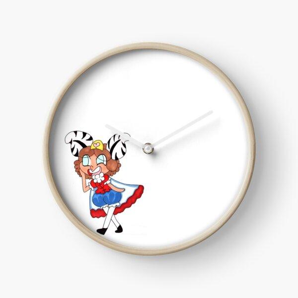 Zebra Queen Clock