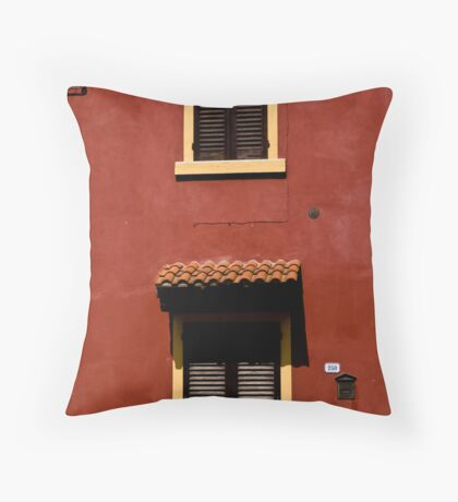 Red House, Yellow Frames Throw Pillow