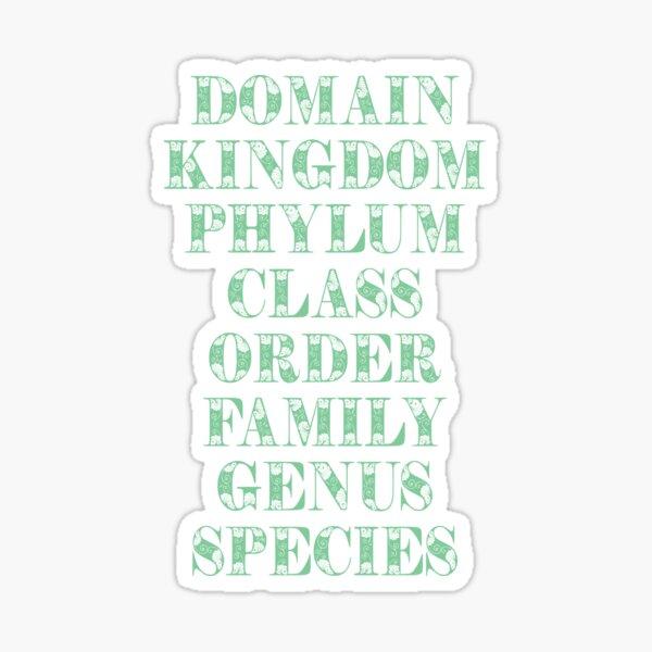TAXONOMY TEE Sticker
