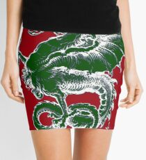 Italy Lover Italian Culture Italian American Dragon Gift Banner Mini Skirt