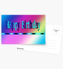 Happy Birthday Rainbow Postcards
