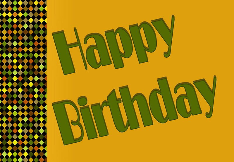 """""""yellow Happy Birthday"""" Greeting Cards By Donna Grayson"""