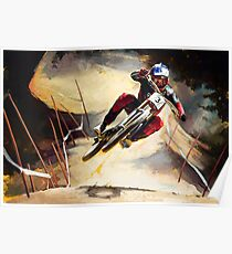 Aaron Gwin Cairns Scrub Poster