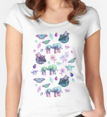 Just a Few of My Favorite Things - blues & purples  Women's Fitted Scoop T-Shirt