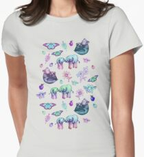 Just a Few of My Favorite Things - blues & purples  Womens Fitted T-Shirt