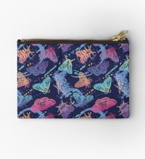 Colorful moths with splashes Studio Pouch
