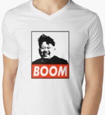 BOOM Kim Jong-Un Men's V-Neck T-Shirt