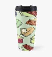 Easy As Pie - cute illustrations of pie on sage green  Travel Mug
