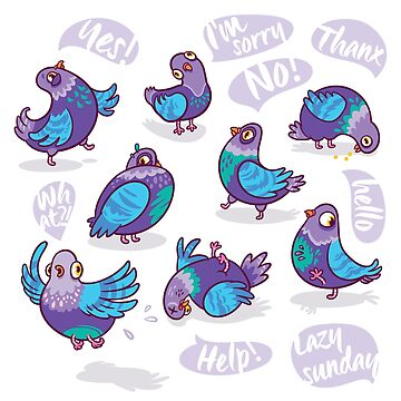 Funny pigeons by PenguinHouse