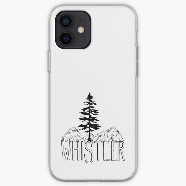 Whistler BC Canada Sitka Tree and Mountains iPhone Soft Case