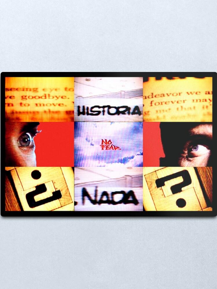 Vista alternativa de Lámina metálica Goodbye Historia Forever