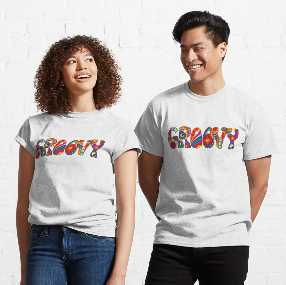 Psychedelic Groovy Classic T-Shirt