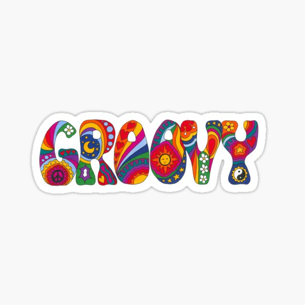 Psychedelic Groovy Sticker