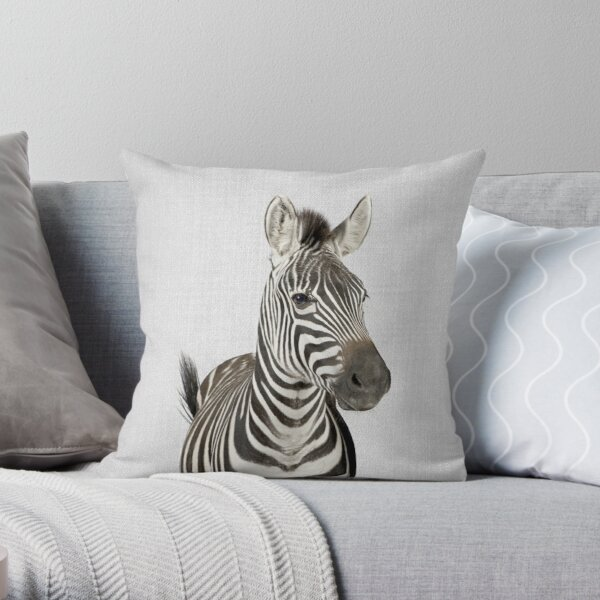 Zebra - Colorful Throw Pillow