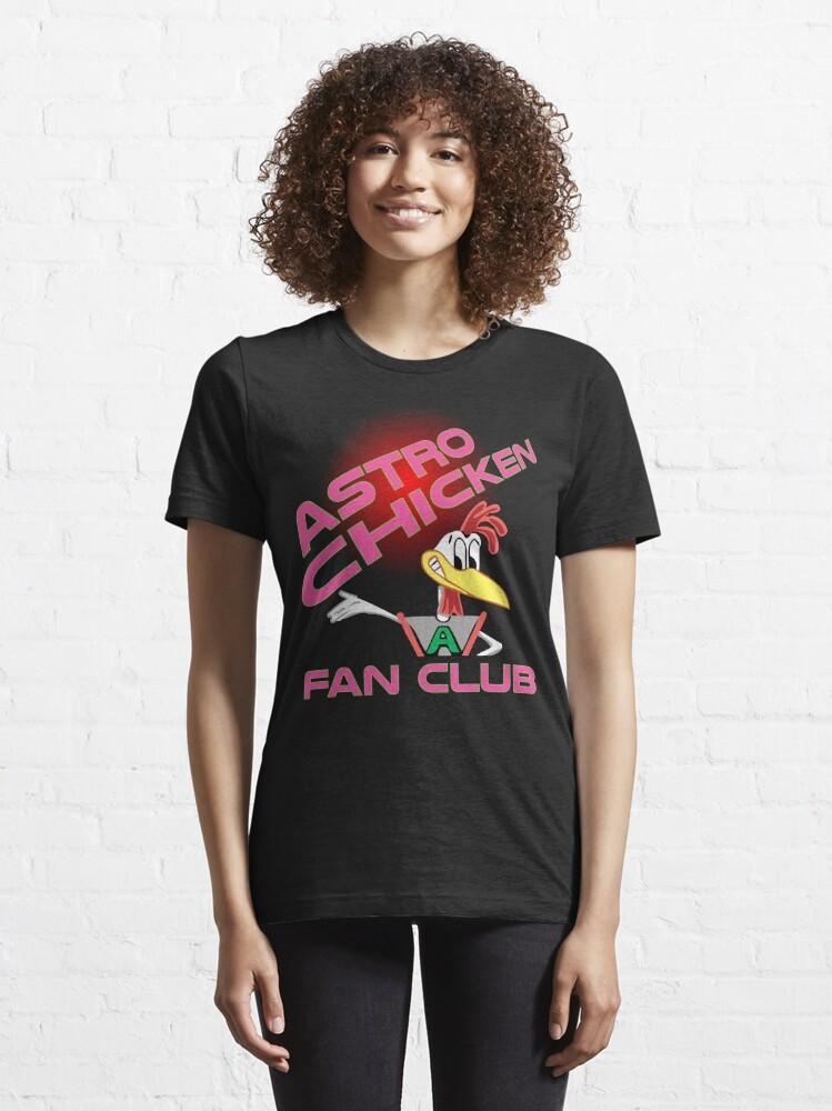 Alternate view of Astro Chicken Fan Club Essential T-Shirt