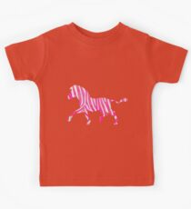 Zebra Hot Pink and White Print Kids Tee