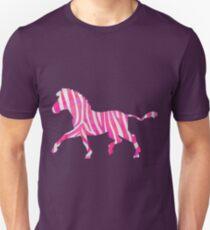 Zebra Hot Pink and White Print T-Shirt