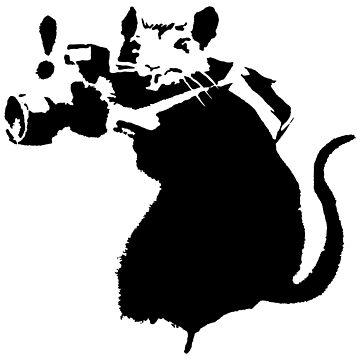Banksy - Paparazzi Rat by streetartfans
