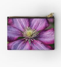 Pink Clematis - Macro Photography Studio Pouch