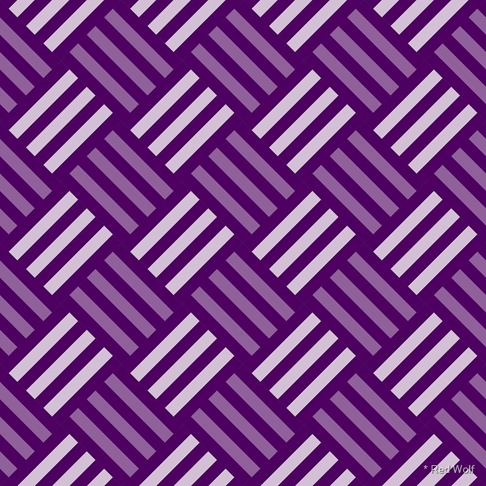 Geometric Pattern: Weave: Purple by * Red Wolf