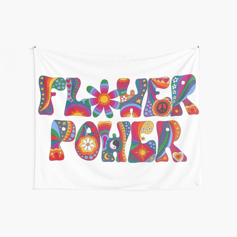 Psychedelic Flower Power Wall Tapestry