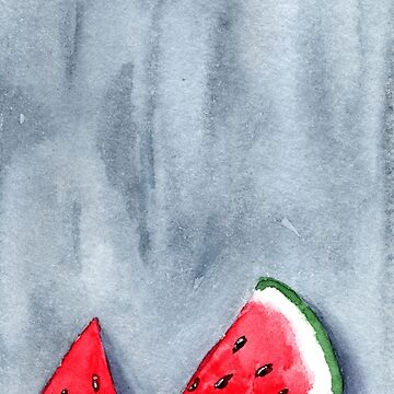 Cool Watermelon - Watercolour Painting by patti2905