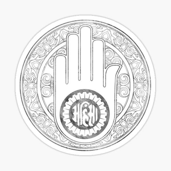 Jain Hand  Sticker