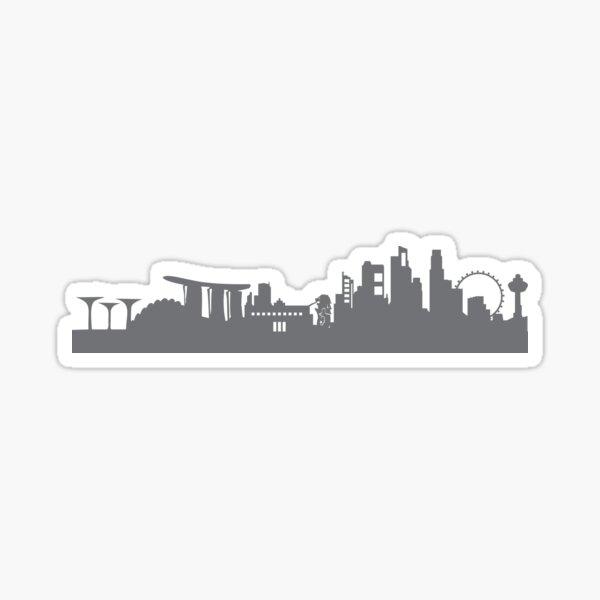 Singapore in gray Sticker