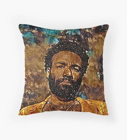 Abstract Childish Gambino Throw Pillow
