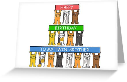 Happy Birthday Twin Brother Cute Cats