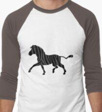 Zebra Black and Gray Print T-Shirt