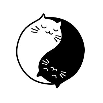 Cute yin yang cats by beakraus