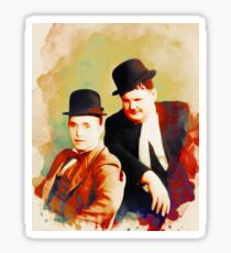 Laurel and Hardy Sticker