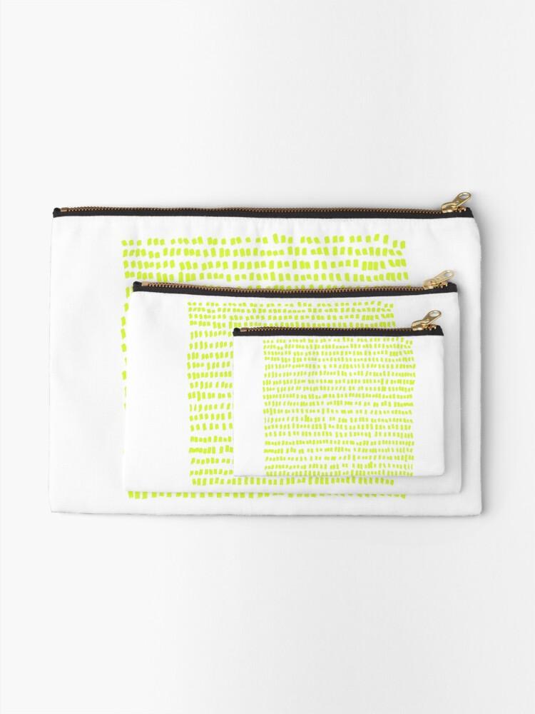 Alternate view of The green green grass of home - a handmade pattern Zipper Pouch