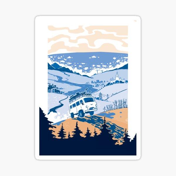Russian road trip Sticker