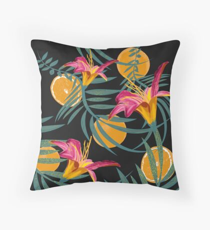 Plants Flowers and Your Orange Fruit Throw Pillow