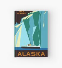 Alaska Taku Glacier retro vintage cruise travel Hardcover Journal