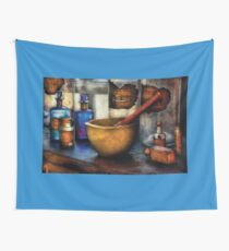 Pharmacist - Mortar and Pestle Wall Tapestry