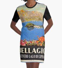 Vestido camiseta Anuncio del viaje italiano del vintage de Italia Bellagio Lake Como