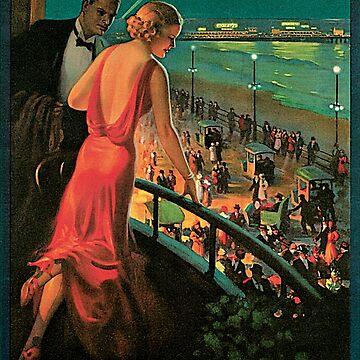 Vintage 1930s Atlantic City NJ railroad travel advertising by aapshop