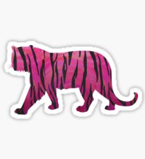 Tiger Hot Pink and Black Print Sticker