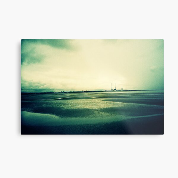 Sandymount at Low Tide Metal Print