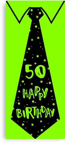 Funny 50th Birthday Tie Graphic For Bday Party Ideas By Xsylx