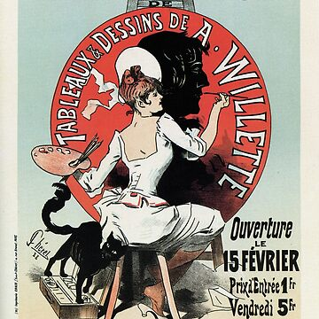 Vintage French art nouveau exposition ad by aapshop