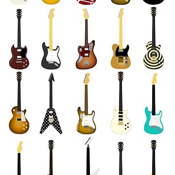 Guitar Collection (with Key) by d13design