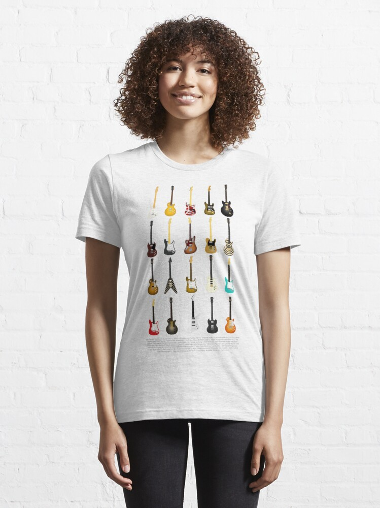Alternate view of Guitar Collection (with Key) Essential T-Shirt