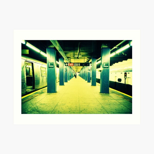 Subway Platform Art Print