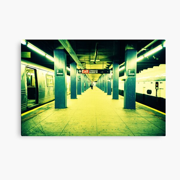 Subway Platform Canvas Print