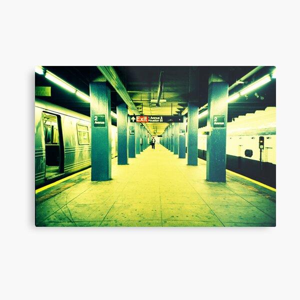 Subway Platform Metal Print